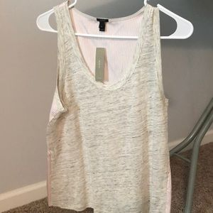 J. Crew mixed fabric tank top